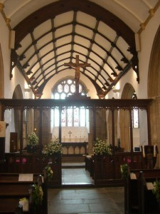 Interior of St Petroc's, Padstow